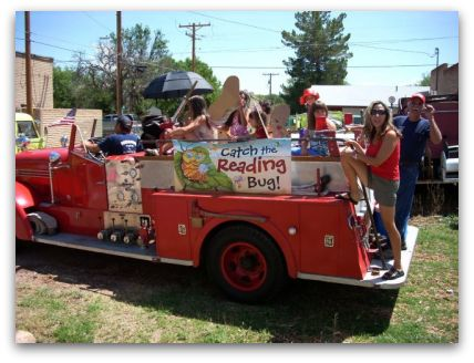 Reading Bug float in the July 4th parade
